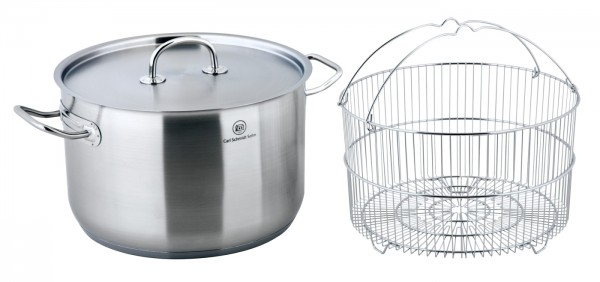 PRO-X Stock Pot with Basket 28 cm, 10 L